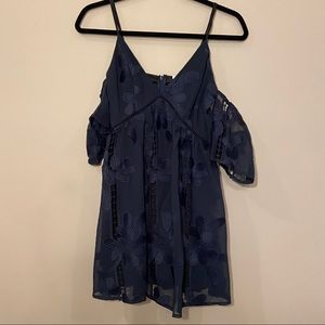 Lovers + Friends navy floral dress!